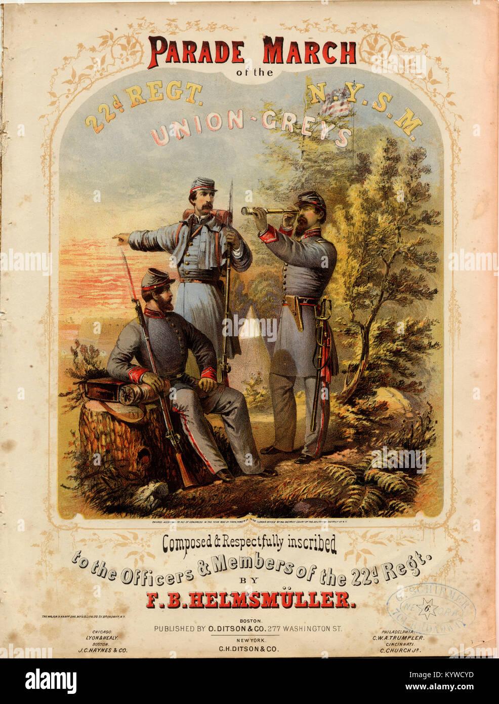 Desfile de Marzo - Canción de la Unión grises Imagen De Stock