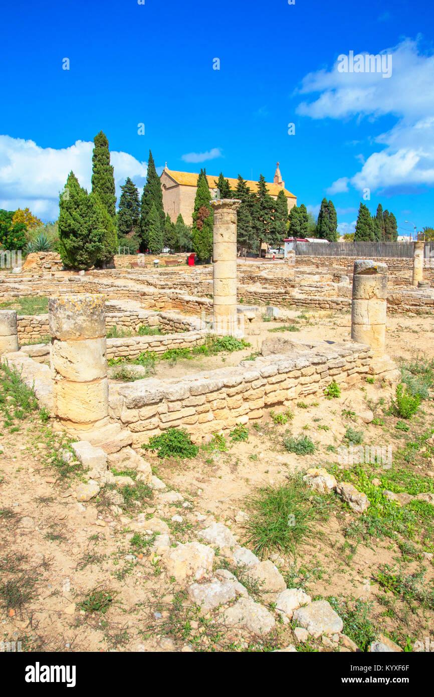 Ruinas romanas de Pollentia, Alcudia, Mallorca, Islas Baleares, España, Europa Imagen De Stock