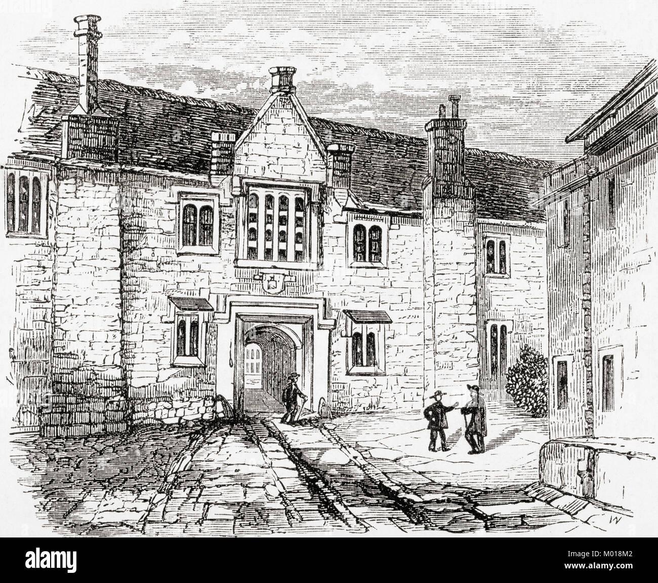 El Charterhouse, Charterhouse Square, Smithfield, Inglaterra. De Ward y bloquear el ilustrado de la historia del Imagen De Stock