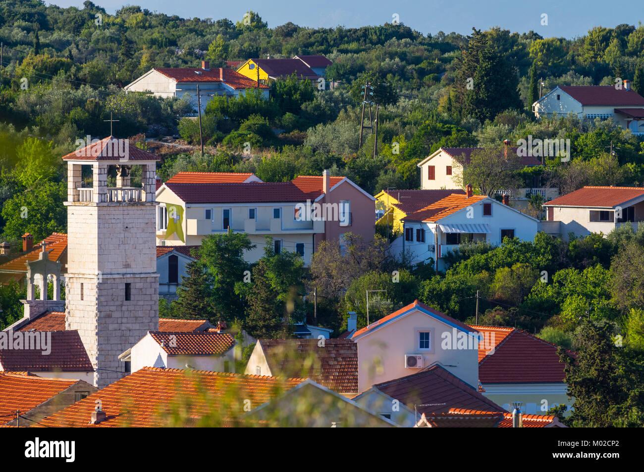 Verano en la isla de iz, Croacia Foto de stock