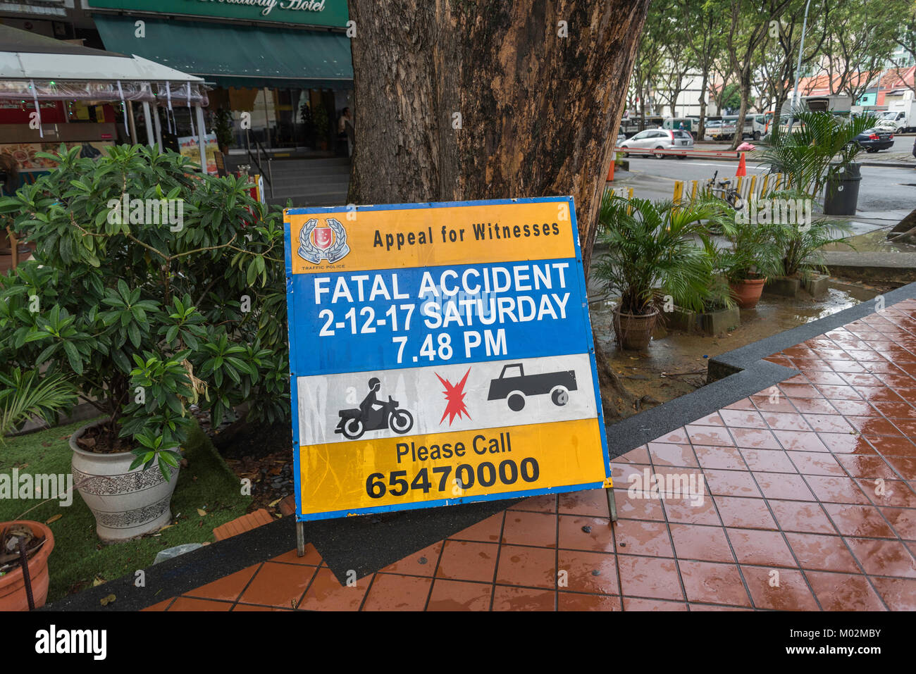 En las calles de Little India, Singapur Imagen De Stock