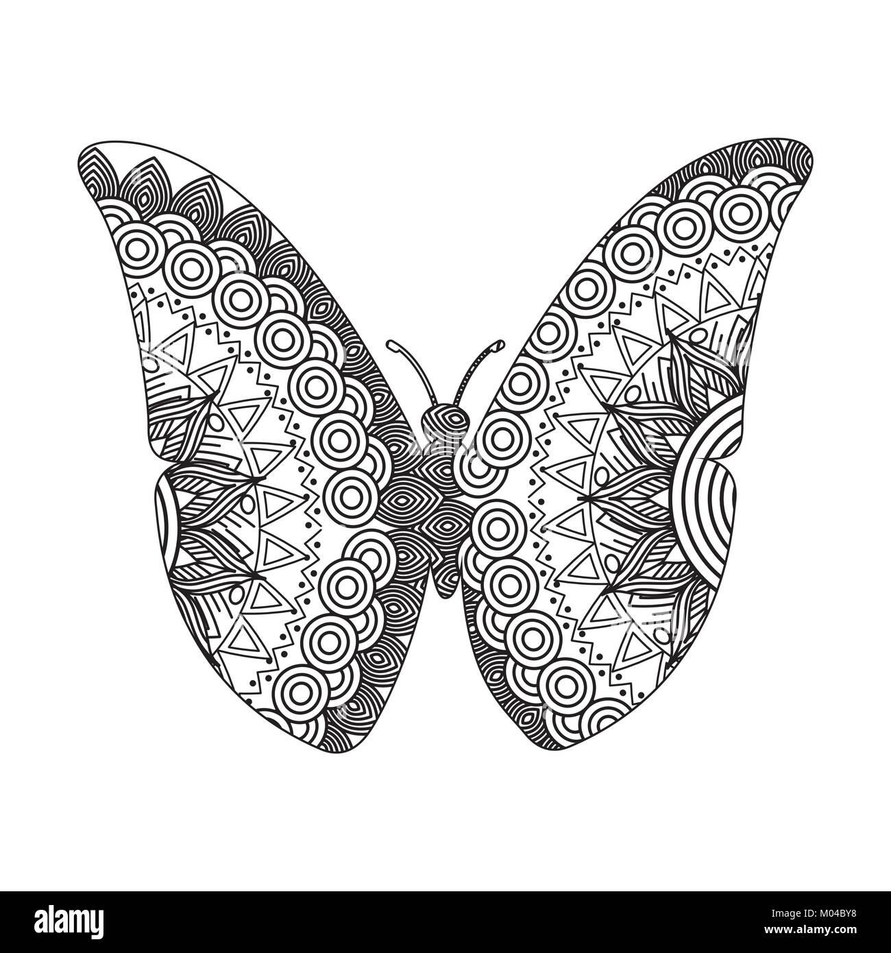 Butterfly Cartoon Drawing Imágenes De Stock & Butterfly Cartoon ...