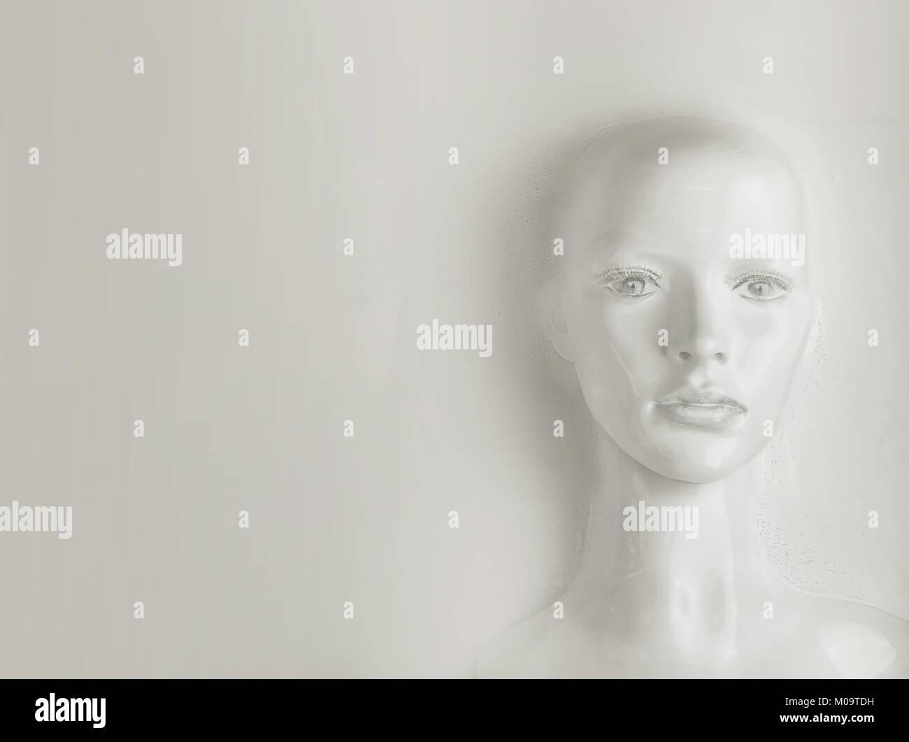 Concepto de inteligencia artificial y el ser humano Imagen De Stock