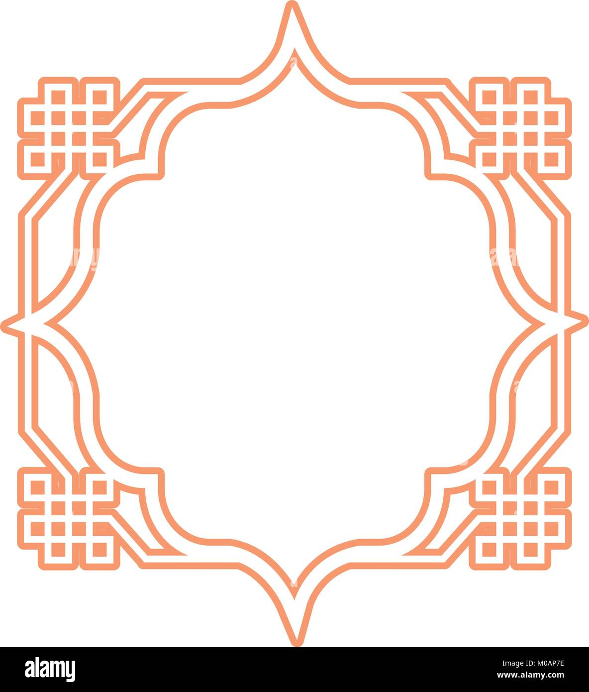 Icono de marco de estilo árabe Imagen De Stock