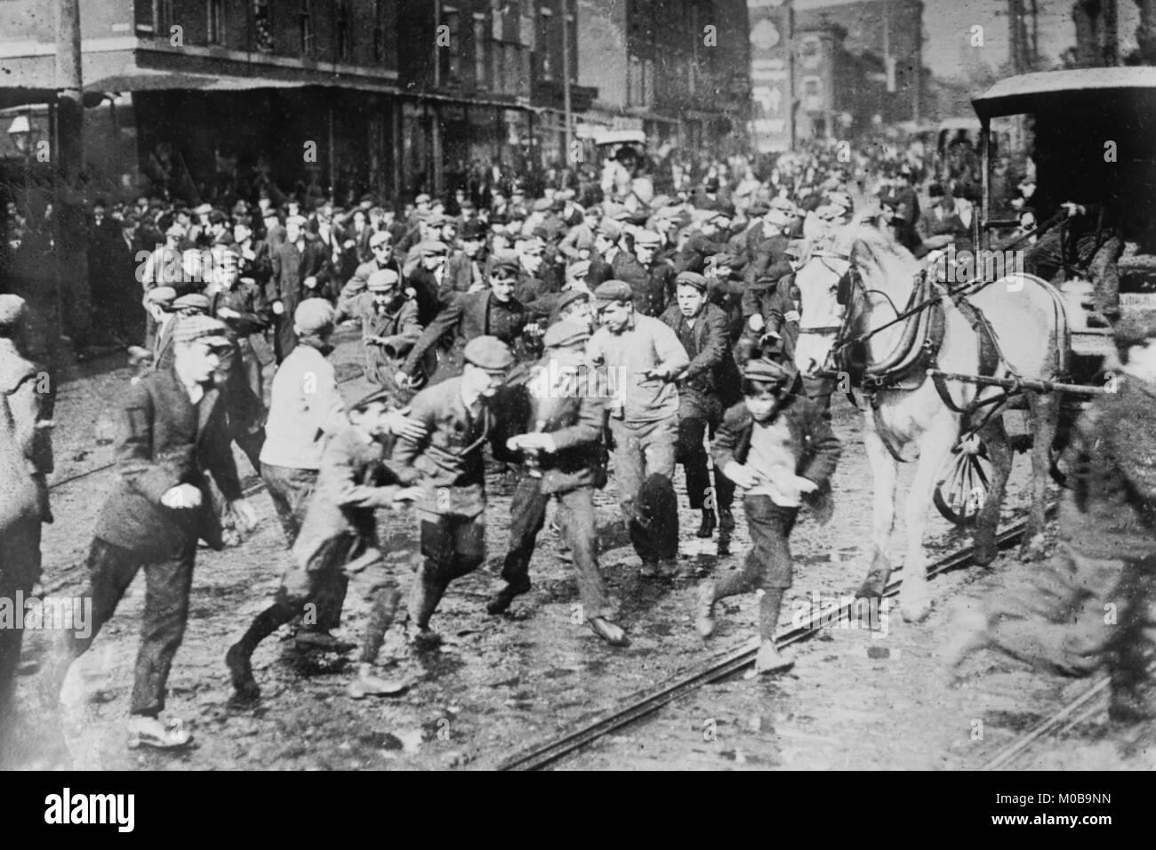 Los trabajadores storm Coche en Filadelfia, paro de transporte Imagen De Stock