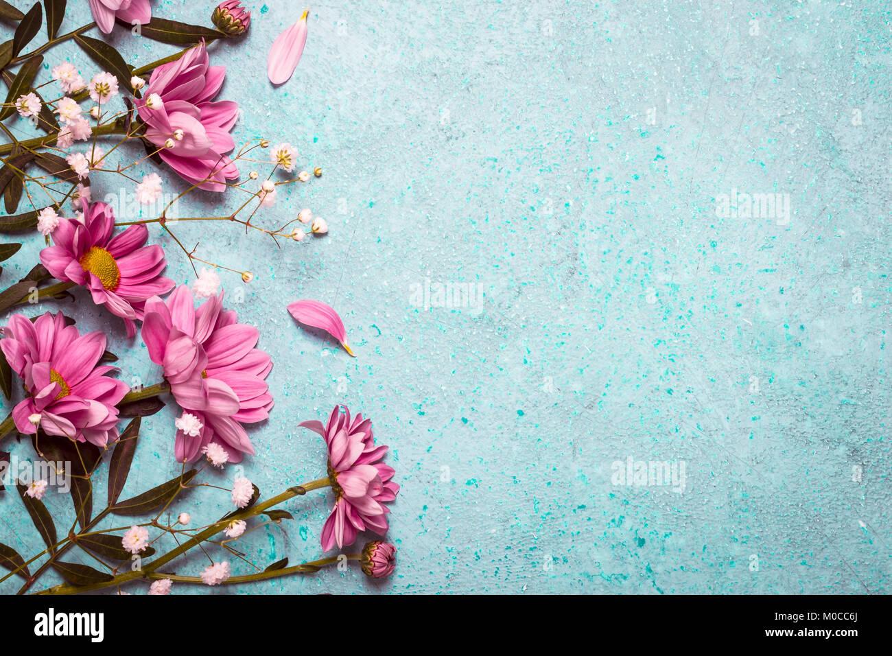 Fondo De Flores Vintage: Primavera Verano Naturaleza Creativa De Fondo. Flores De