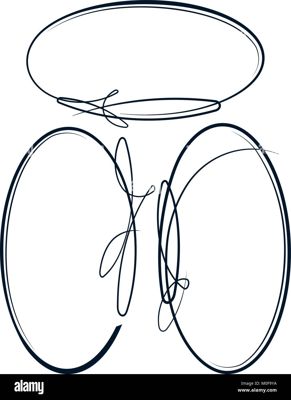 Hermosa colección de marcos ovalados. Vector Ilustración del Vector ...