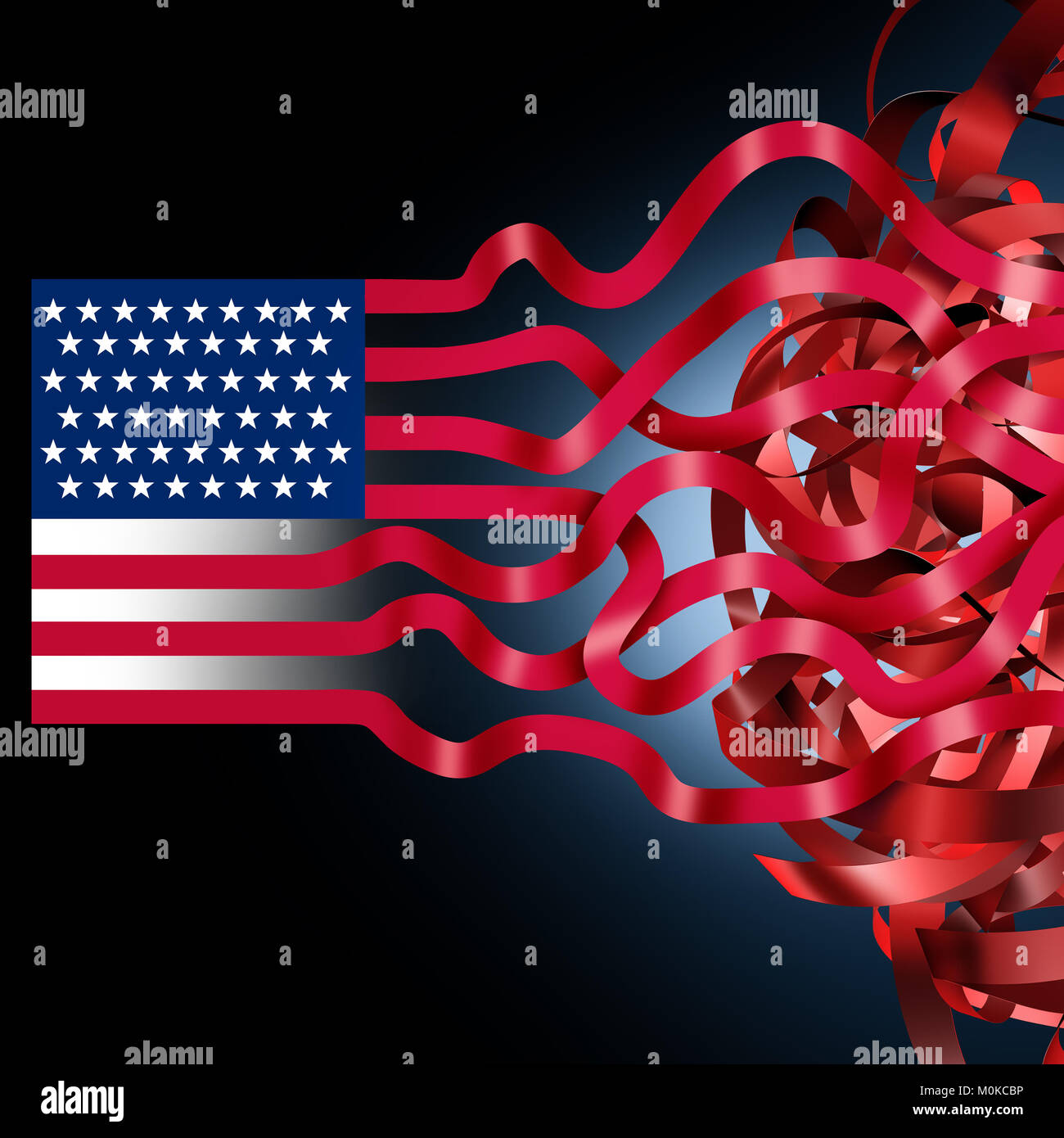 American gobierno federal de los Estados Unidos cierre confusión debido al gasto bill desacuerdo como un problema Foto de stock