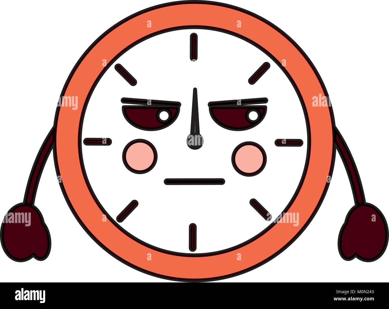 Tiempo De Reloj Redonda Kawaii Personaje De Dibujos