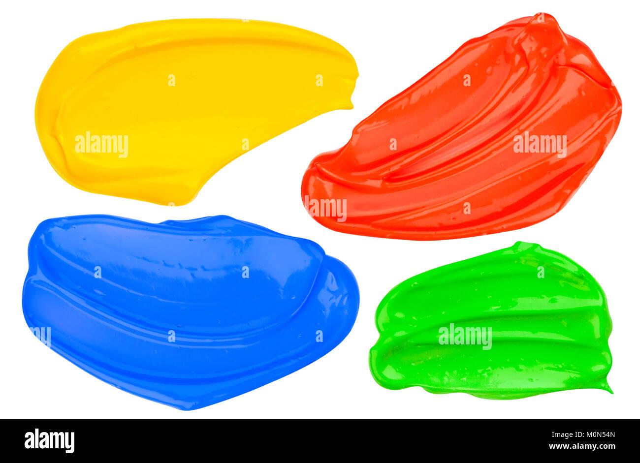 Coloridos trazos dibujados a mano aislado sobre fondo blanco. Imagen De Stock