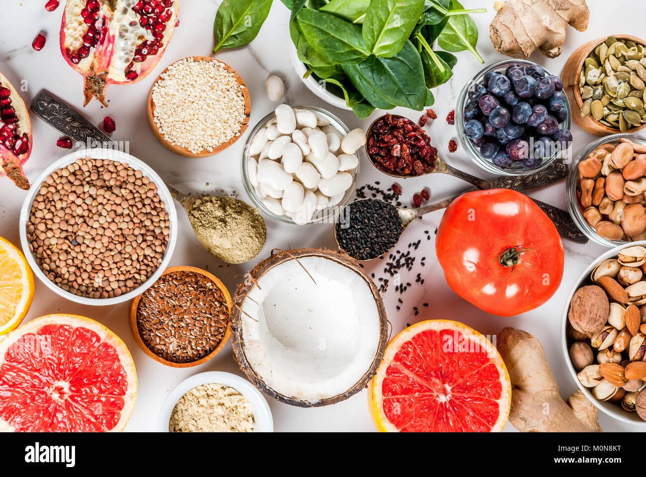 Conjunto de dieta saludable de alimentos org nicos for Semillas de frutas y verduras