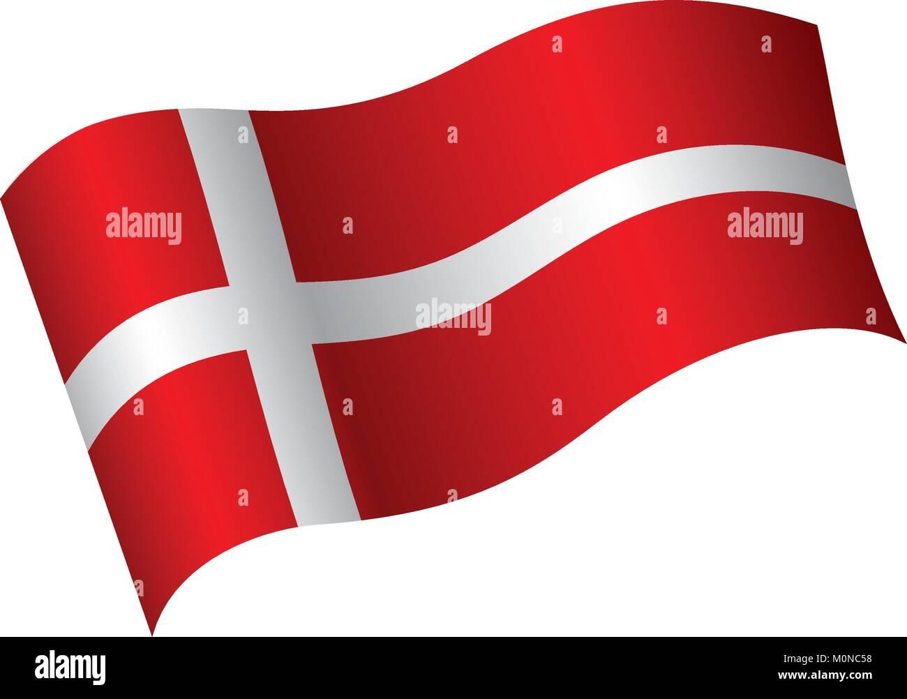 Danmark bandera, ilustración vectorial Ilustración del Vector