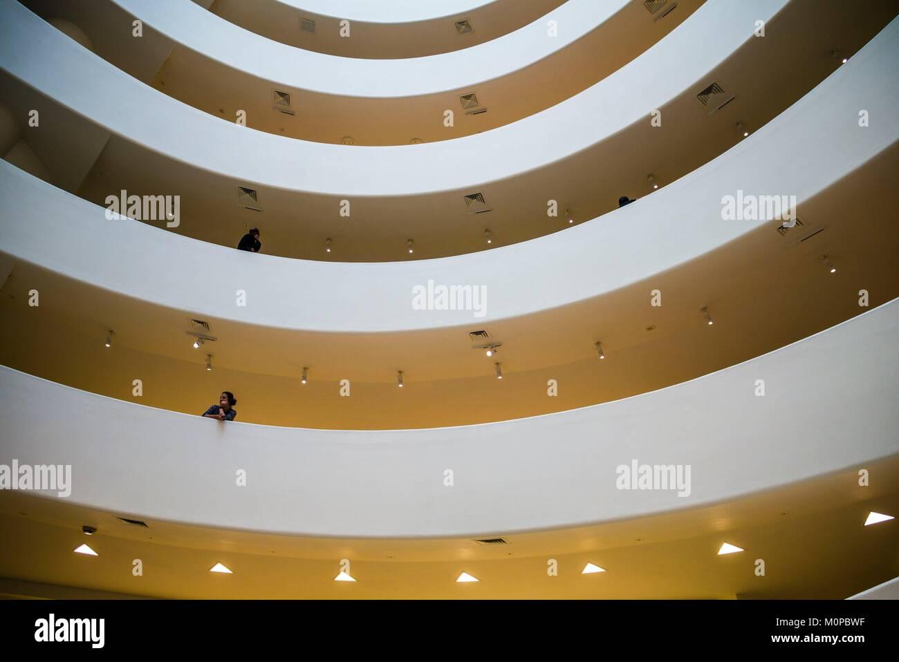 Estados Unidos,Nueva York,Nueva York,Upper East Side, Museo Guggenheim,vestíbulo interior Imagen De Stock