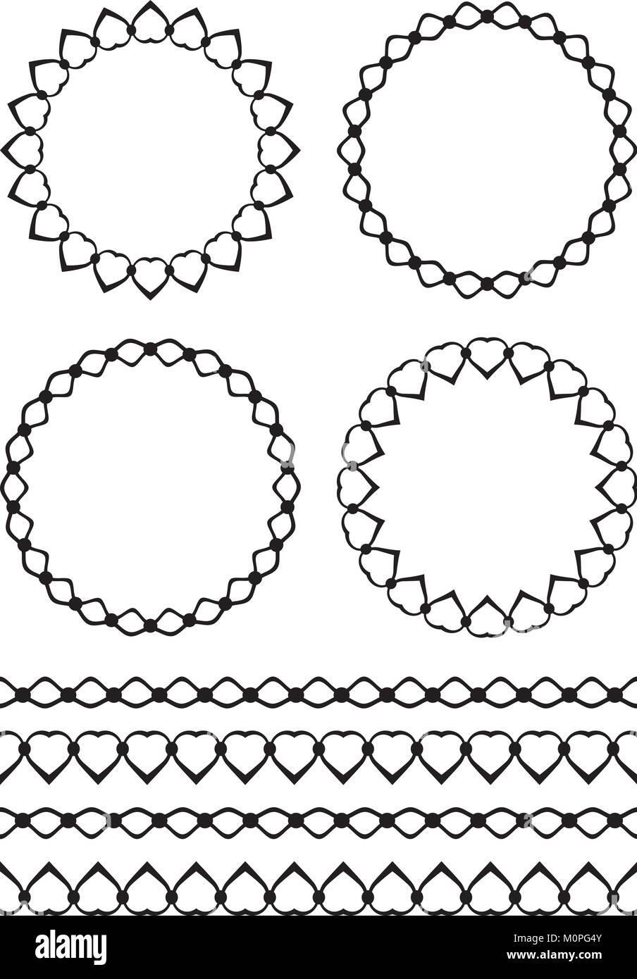 Conjunto de cuatro decorativos marcos redondos y cuatro for Conjunto de espejos decorativos