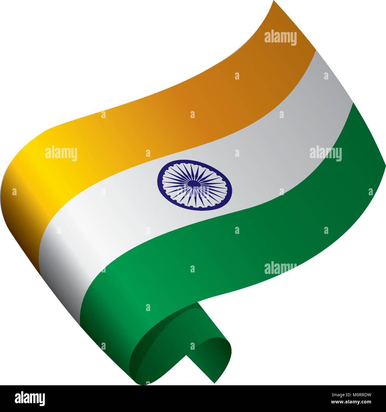 La India bandera, ilustración vectorial Ilustración del Vector ...