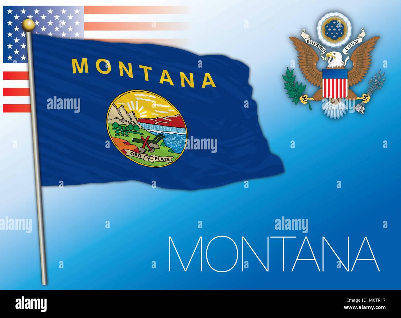 Contemporáneo Colorear Bandera De Estado De Montana Ideas - Dibujos ...