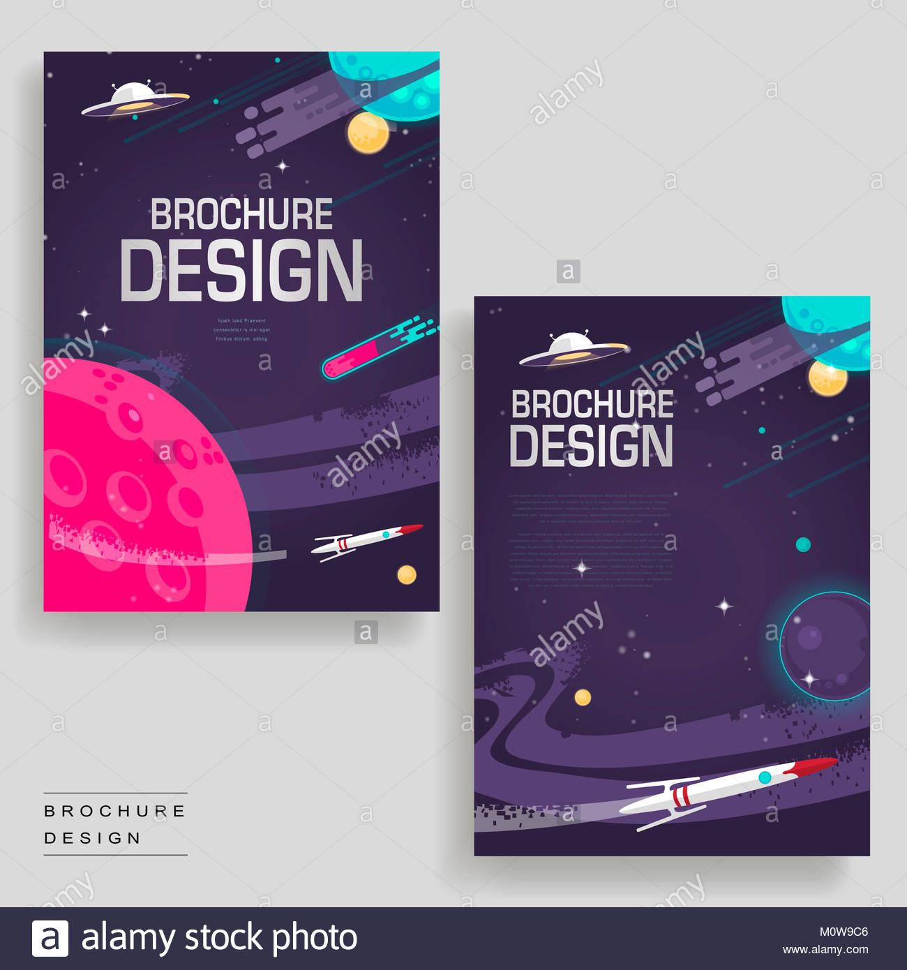 Plantilla de folleto de dibujos animados con el espacio de diseño ...