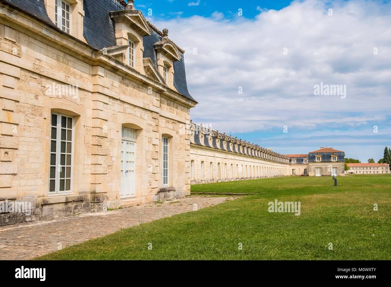 Francia,Charente Maritime,Rochefort,distrito del Arsenal,la Corderie Royale diseñado por Colbert en 1666 Imagen De Stock