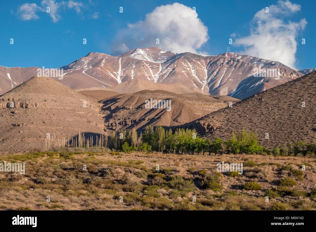 Argentina, Provincia de San Juan, Barreal,Rio de Los Patos valley Imagen De Stock