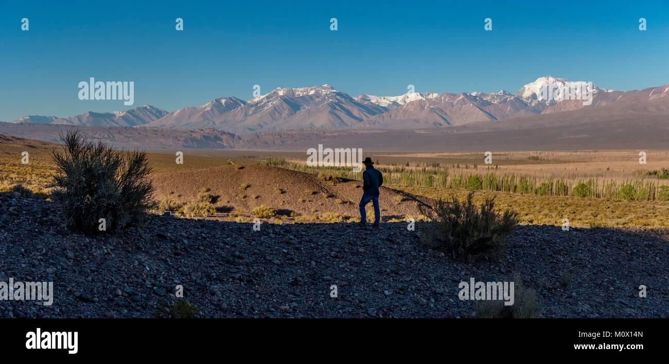 Argentina, Provincia de San Juan, departamento de Calingasta,Cordillera en Barreal Imagen De Stock
