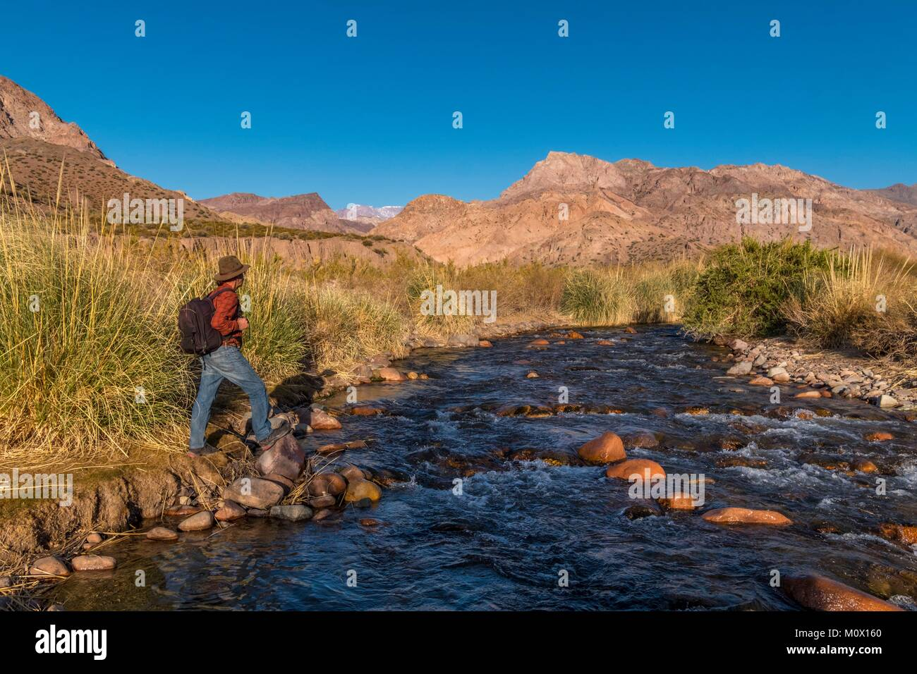Argentina, provincia de San Juan, Calingasta,Río Valle de Calingasta Imagen De Stock