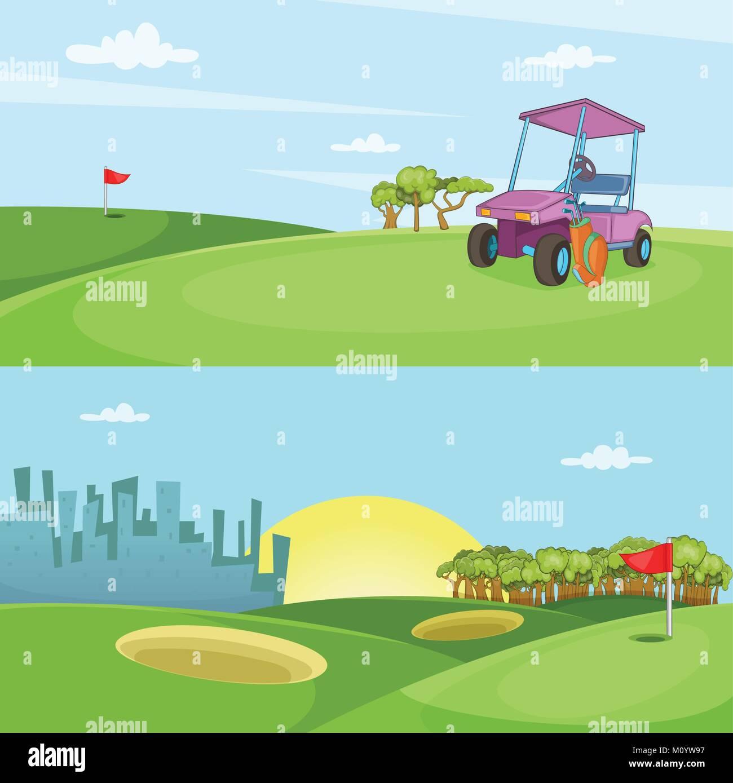 d1b63156a Campo de golf conjunto banner horizontal