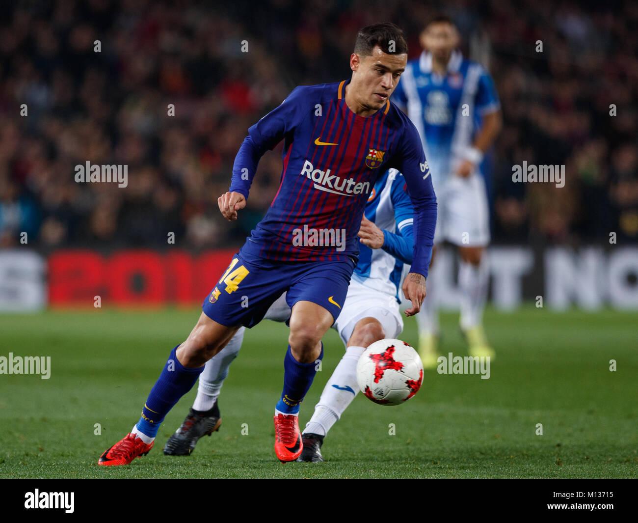 Barcelona, España. 25 de enero de 2018. Copa del Rey fútbol ...
