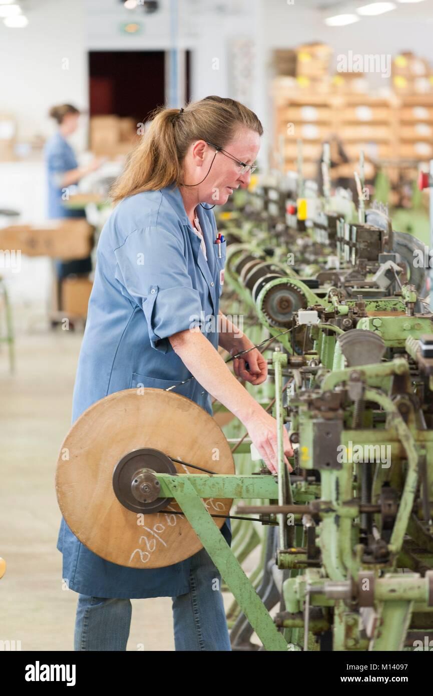Francia, Orne, Saint Sulpice sur risle, taller de fabricación Bohin Imagen De Stock