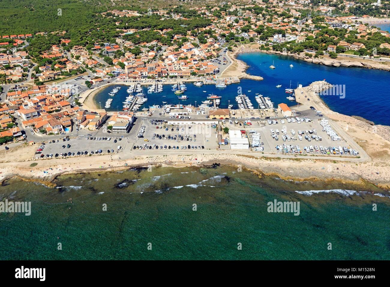 Francia, Bouches du Rhone, Martigues, carro de distrito (vista aérea) Imagen De Stock