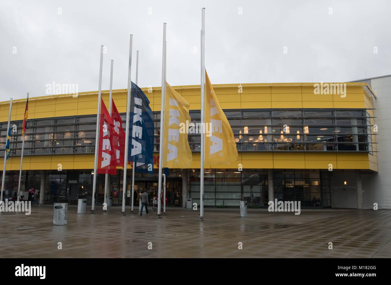 Berl N Alemania 28 Ene 2018 Las Banderas En Frente De Ikea  # Muebles Mio Suecos