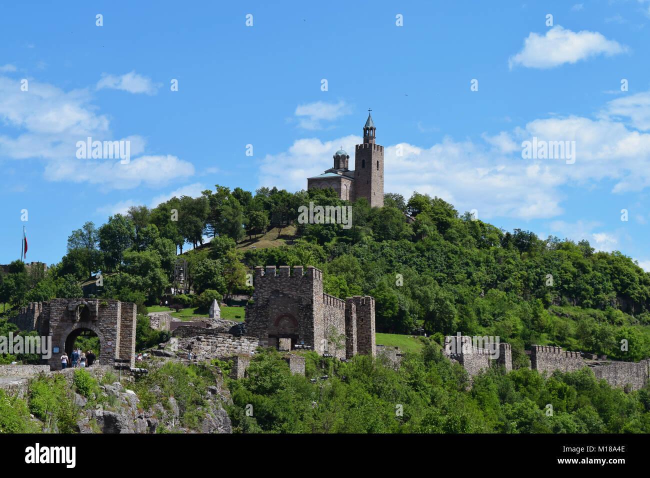 Tsarevets Veliko Tarnovo Foto de stock
