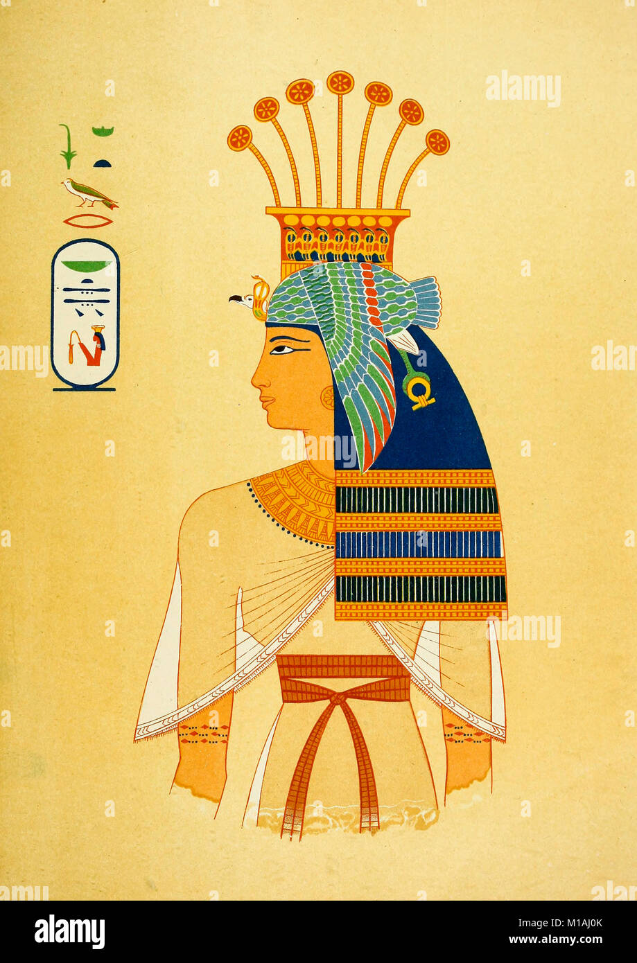 Retrato de la Reina Nebto, hija de Ramses Meiamun (XIX dinastía) Imagen De Stock