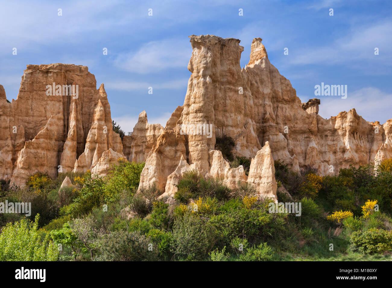 Les Orgues d'Ille sur Tet, Languedoc-Roussillon, Pirineos Orientales, Francia. Imagen De Stock