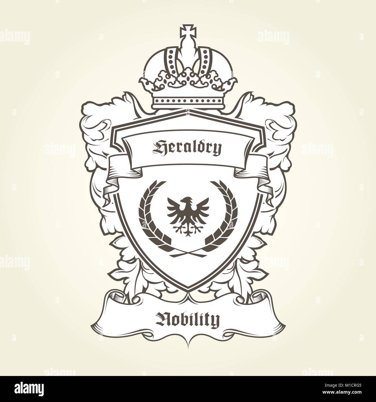 Heraldic Coat Arms Design Crown Imágenes De Stock & Heraldic Coat ...
