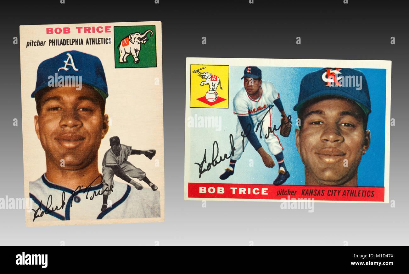 El 13 de septiembre de 1953 Bob Trice se convirtió en el primer jugador Afroamericano en la historia del atletismo Foto de stock