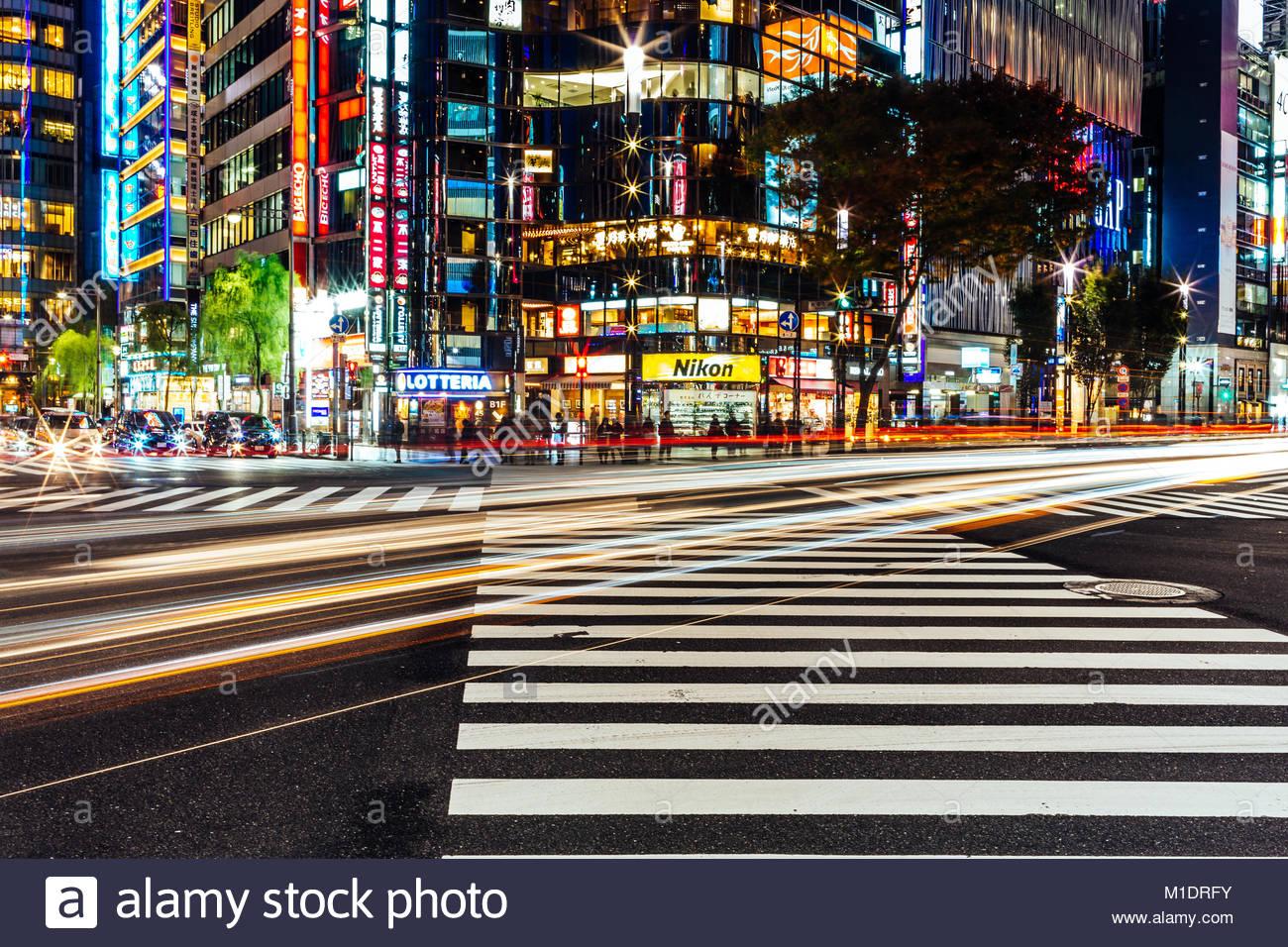 Larga Exposición en Tokio Imagen De Stock