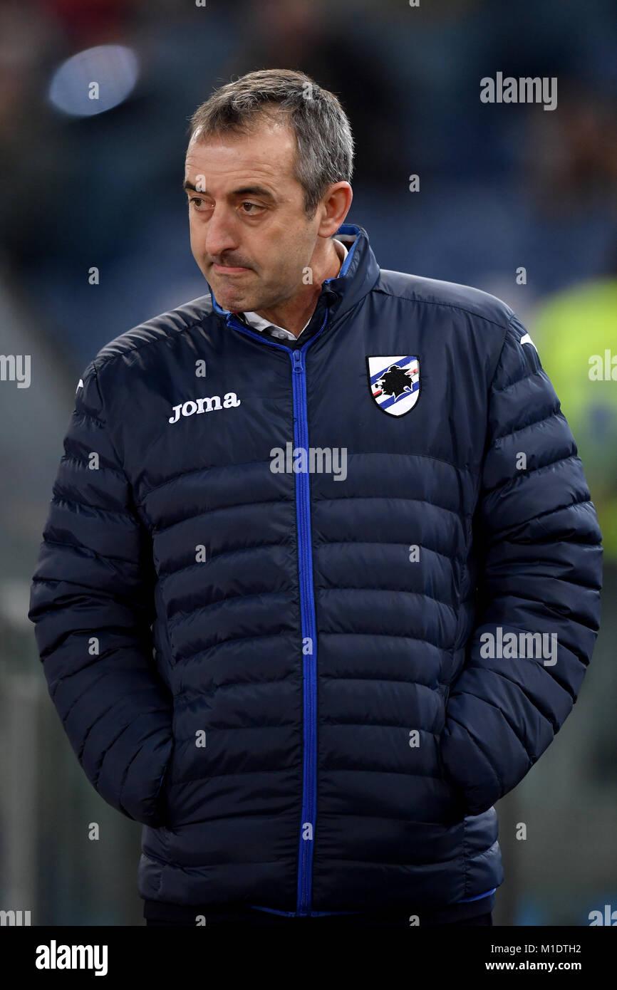 Marco Giampaolo, Sampdoria entrenador. Roma 28-01-2018, Stadio ...