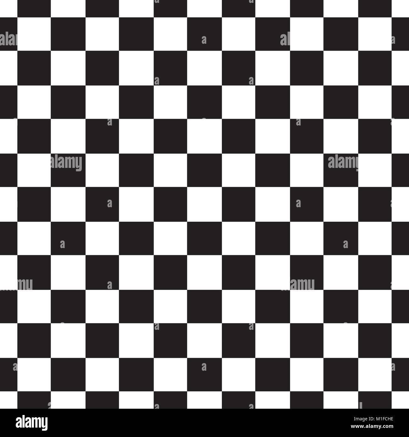 Patrón sin fisuras de tablero de ajedrez. Blanco y negro, abstracto ...