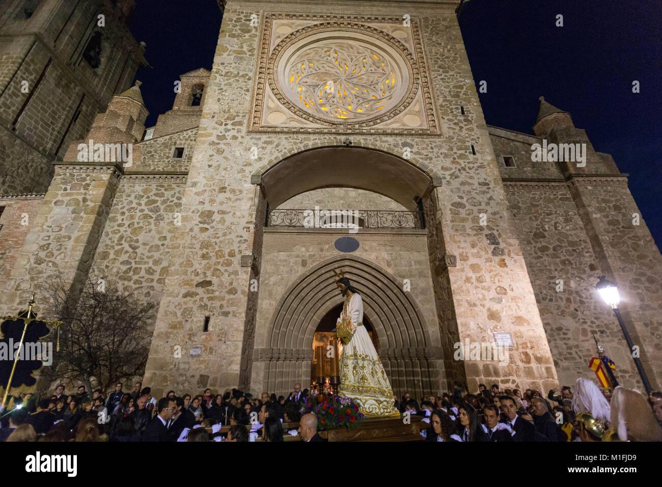 Talavera de la Reina, Toledo, España. 29 ene, 2018. La hermandad de El Cristo del Mar pasa a través de Imagen De Stock