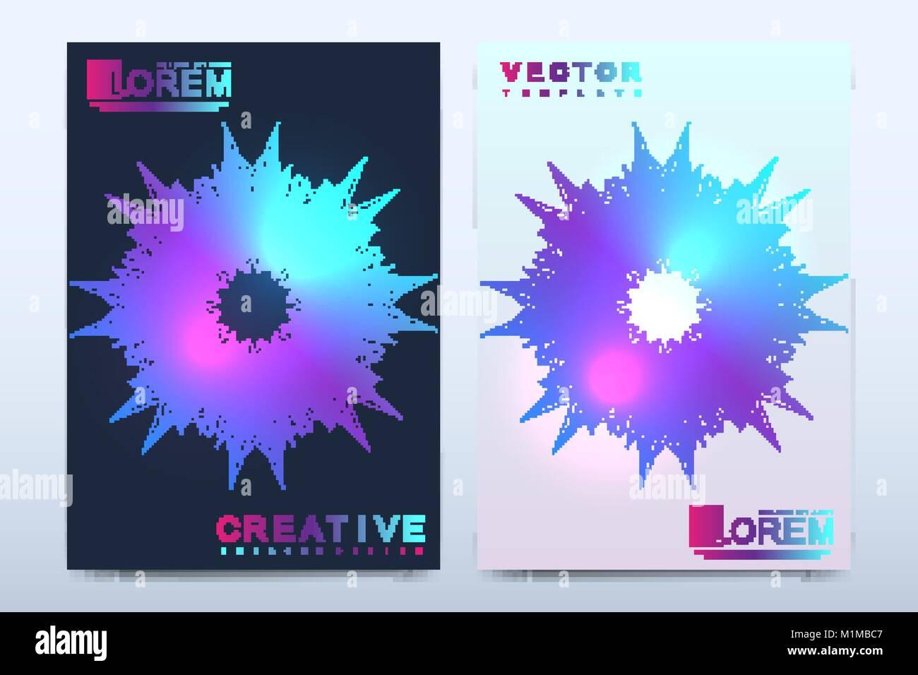 Plantilla vectorial moderno para el folleto, panfleto, folleto ...