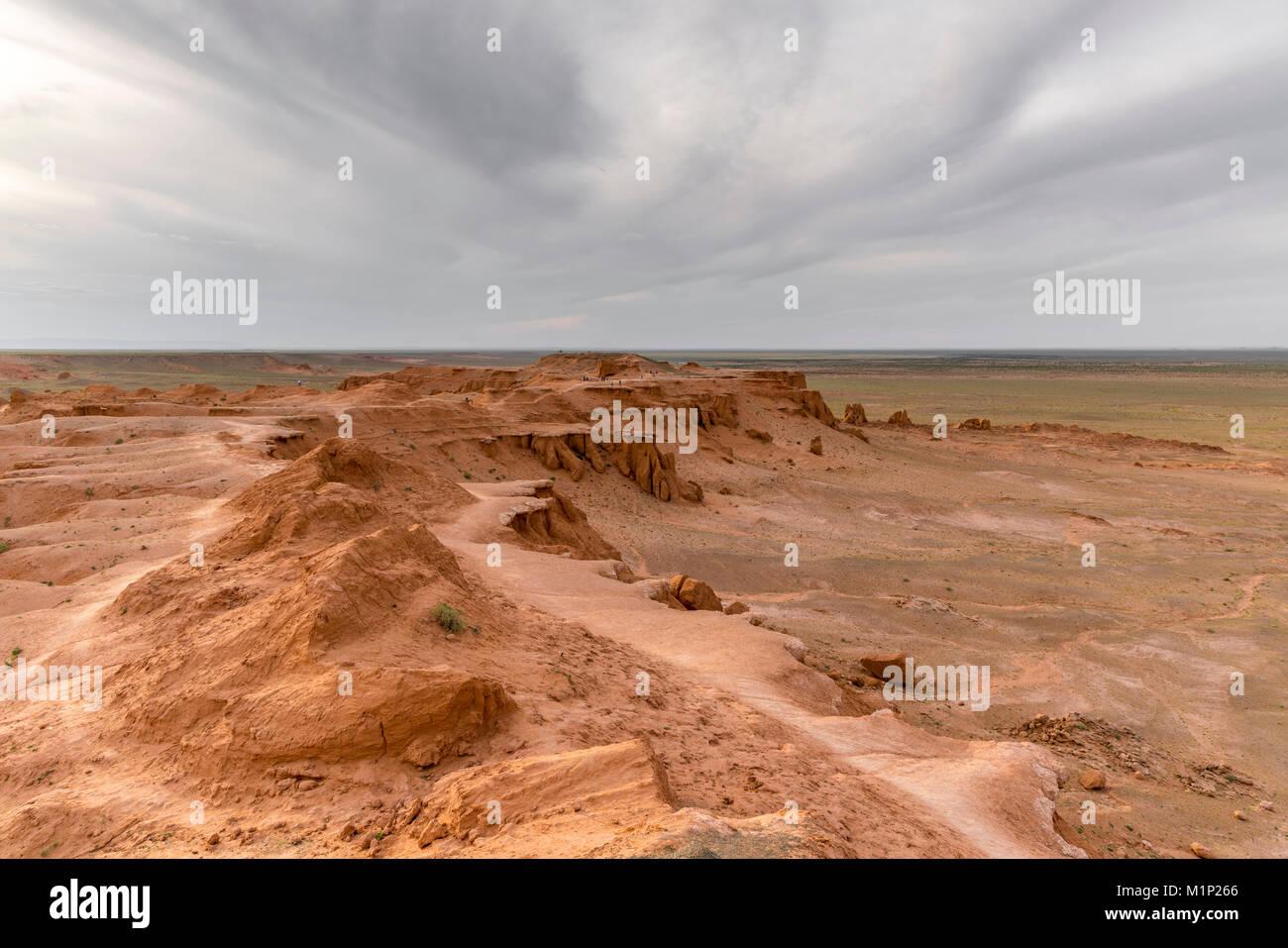 Flaming cliffs, Bajanzag, al sur de la provincia de Gobi, Mongolia, Asia Central, África Imagen De Stock