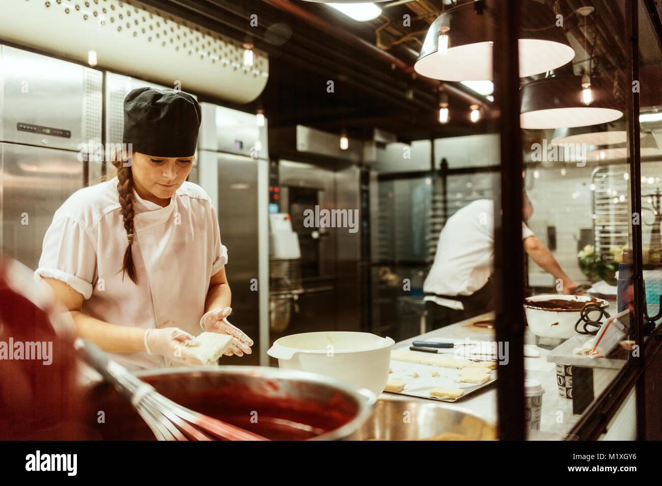 El chef de cocina en Suecia Imagen De Stock