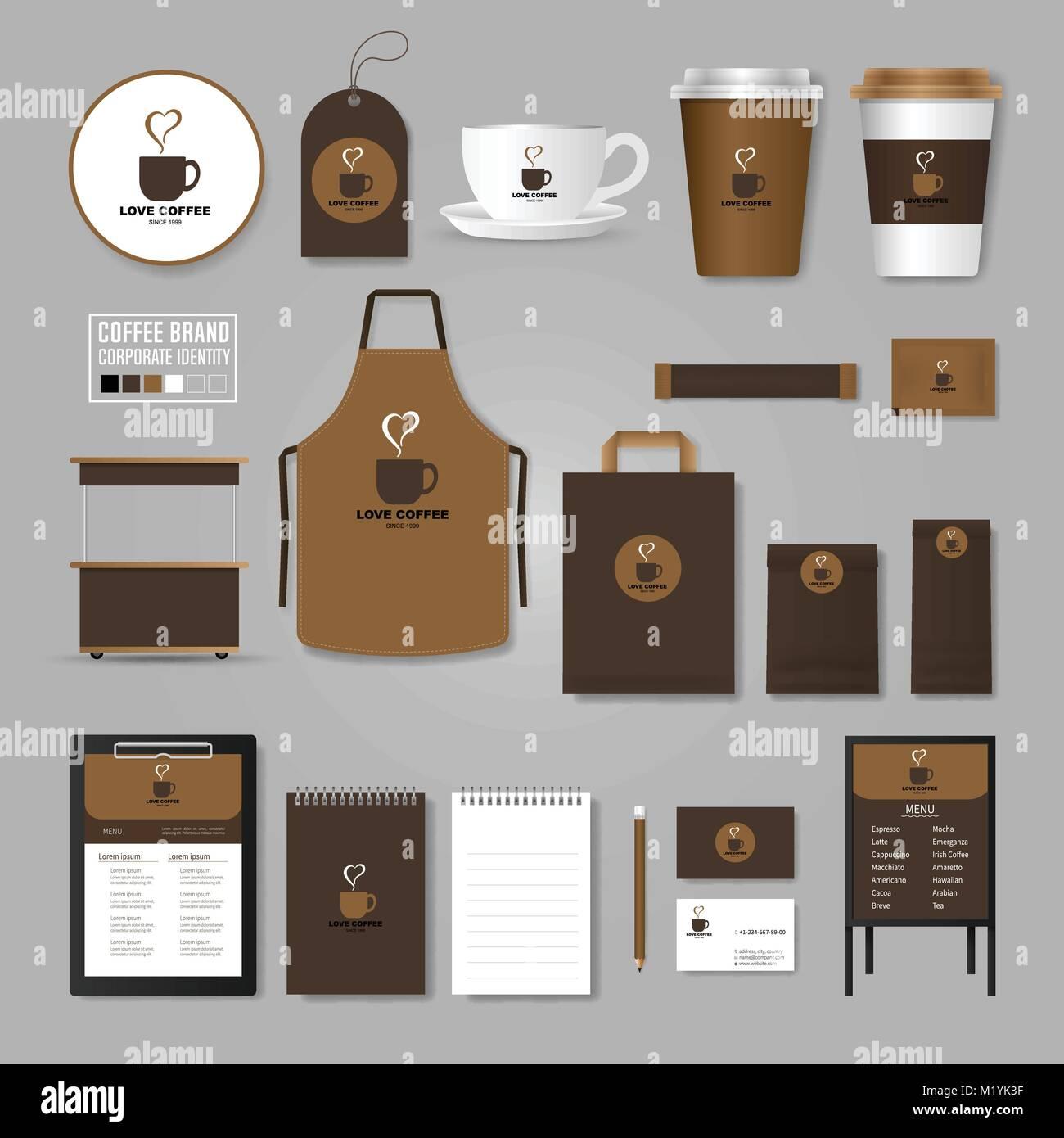 Identidad corporativa plantilla. Concepto de logotipo para la ...