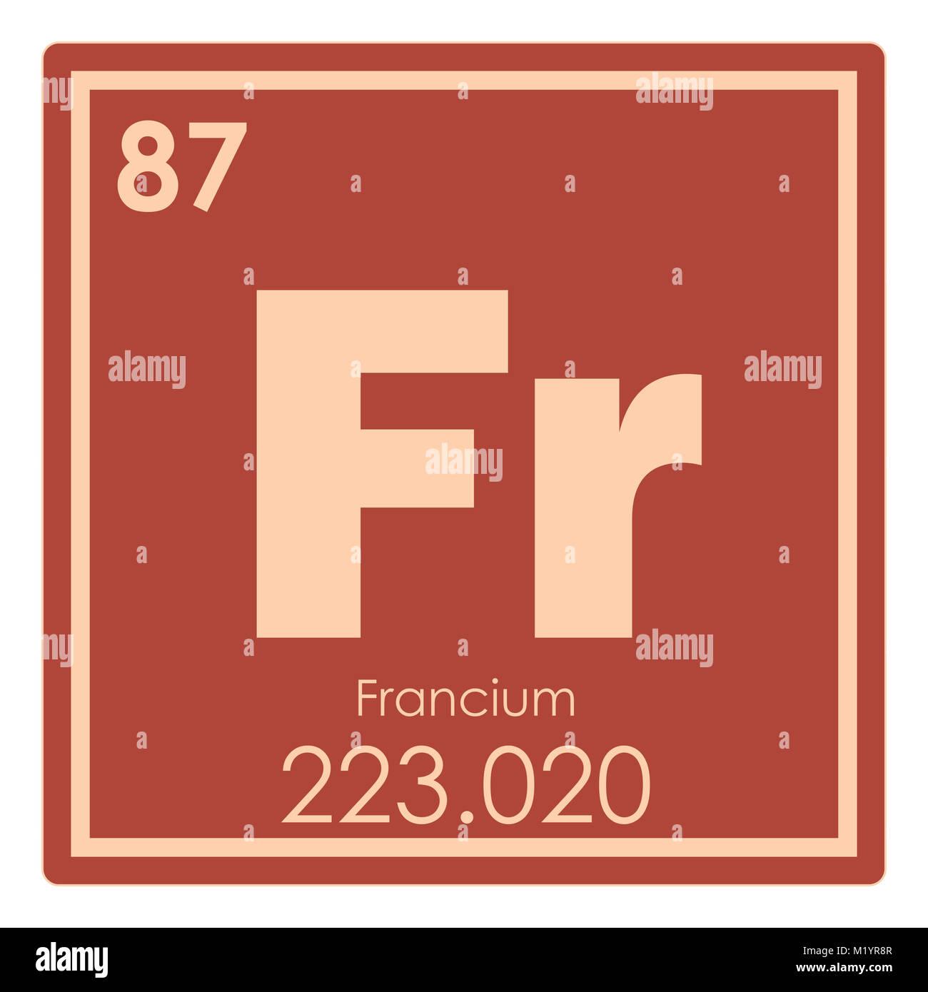 Francio elemento qumico tabla peridica ciencia smbolo foto francio elemento qumico tabla peridica ciencia smbolo urtaz Choice Image