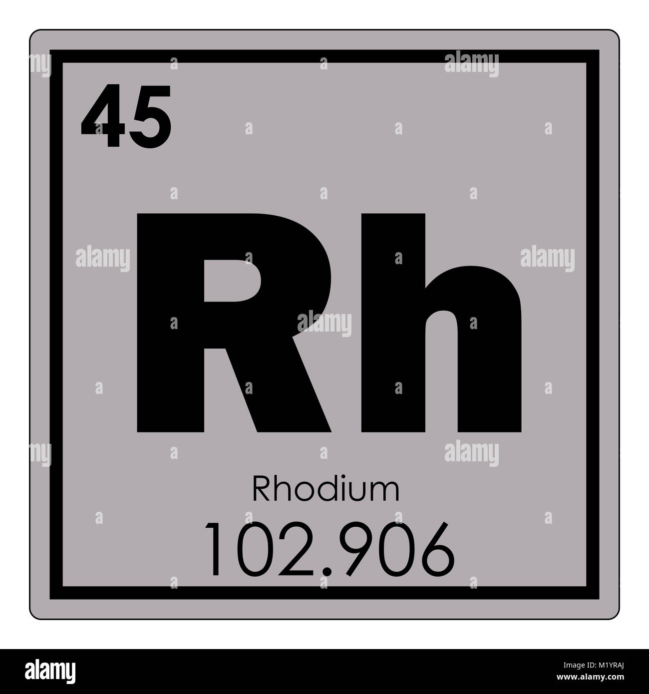 Tabla peridica de elementos qumicos de rodio smbolo de ciencia tabla peridica de elementos qumicos de rodio smbolo de ciencia urtaz Image collections