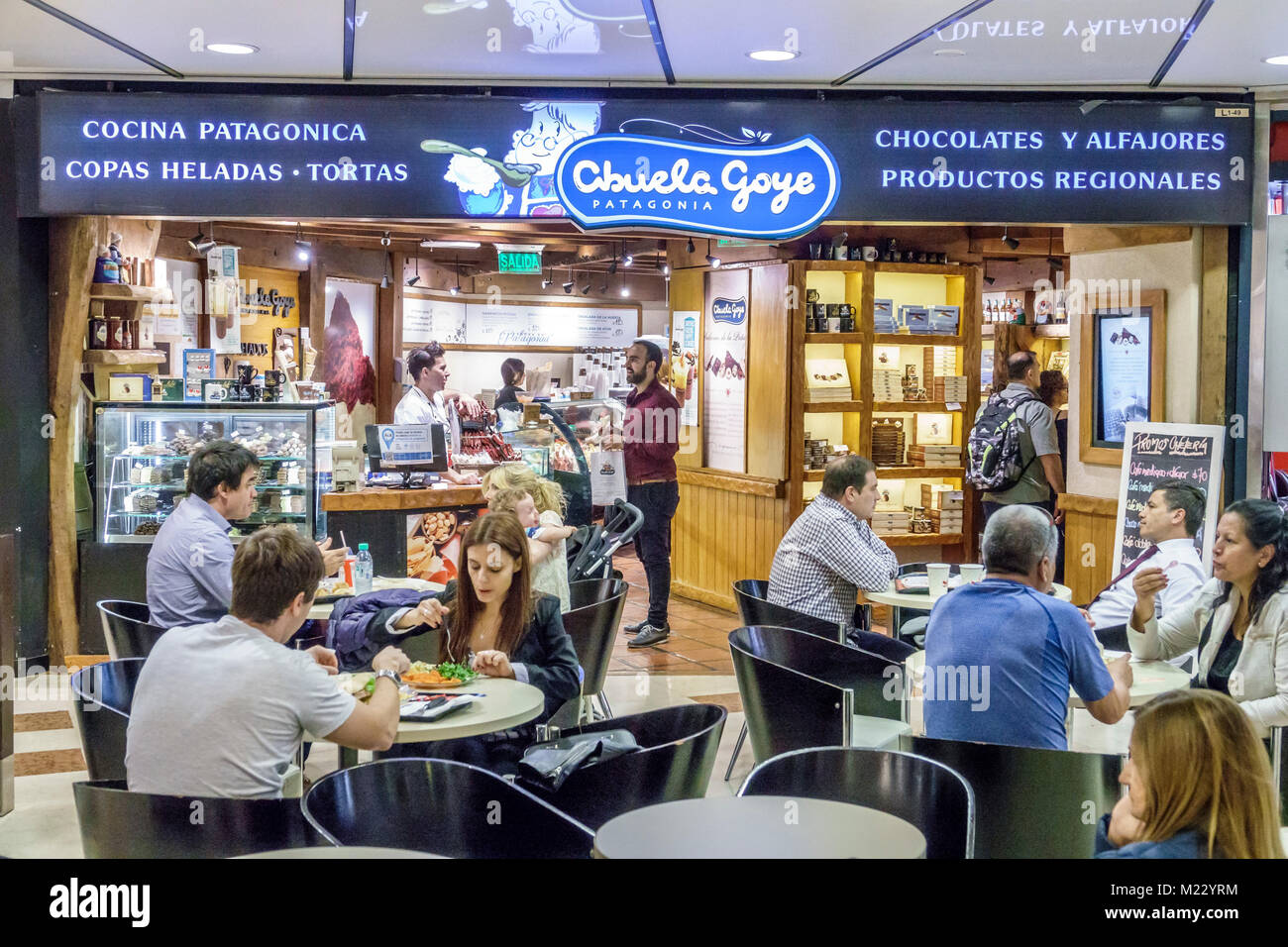 Buenos Aires Argentina Galerias Pacífico mall shopping food court Abuela  Goye Patagonia productos regionales restaurante Cafe tablas hombre mujer  Hispano ... b9243e4a701
