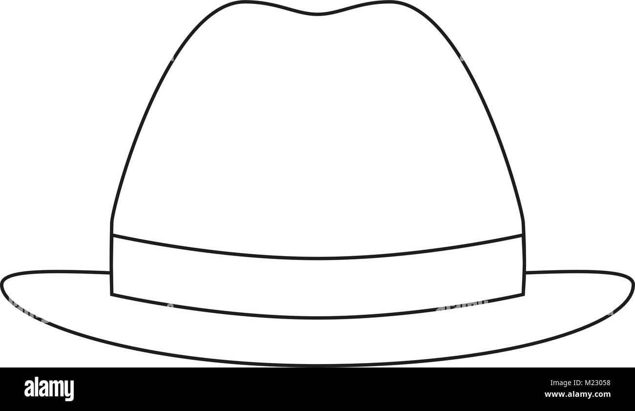 Línea de iconos arte poster hombre padre papá día hat cap. Página ...