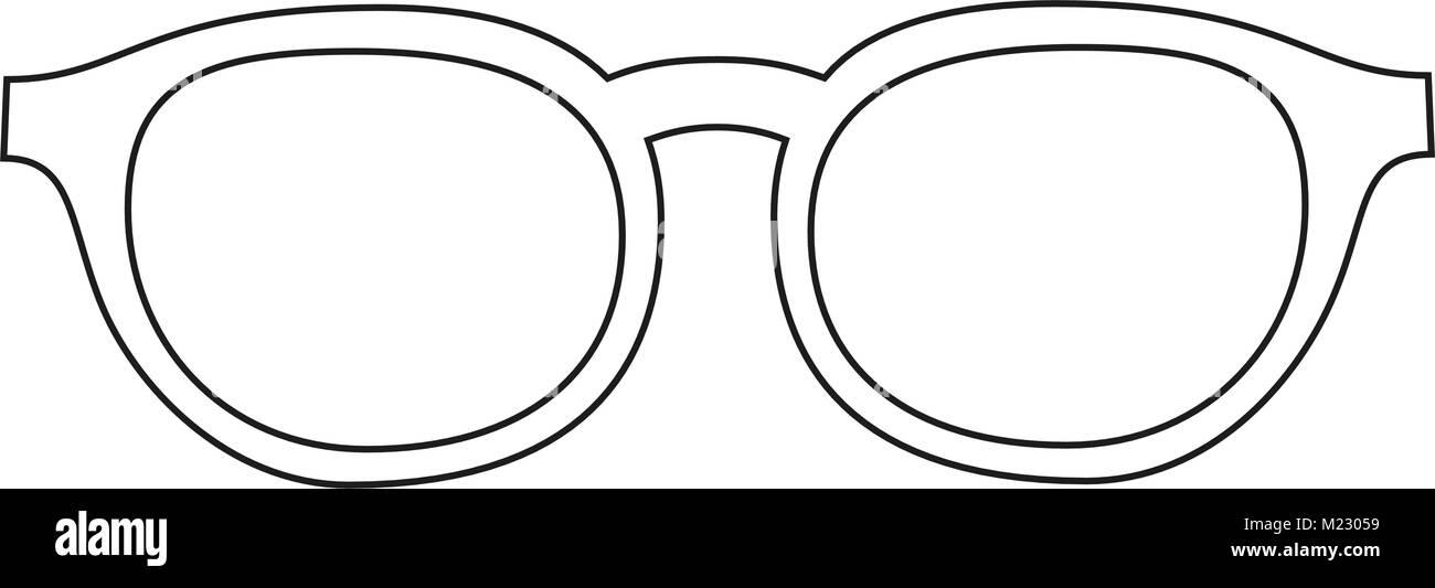 Línea de iconos arte poster hombre padre papá día gafas, gafas ...