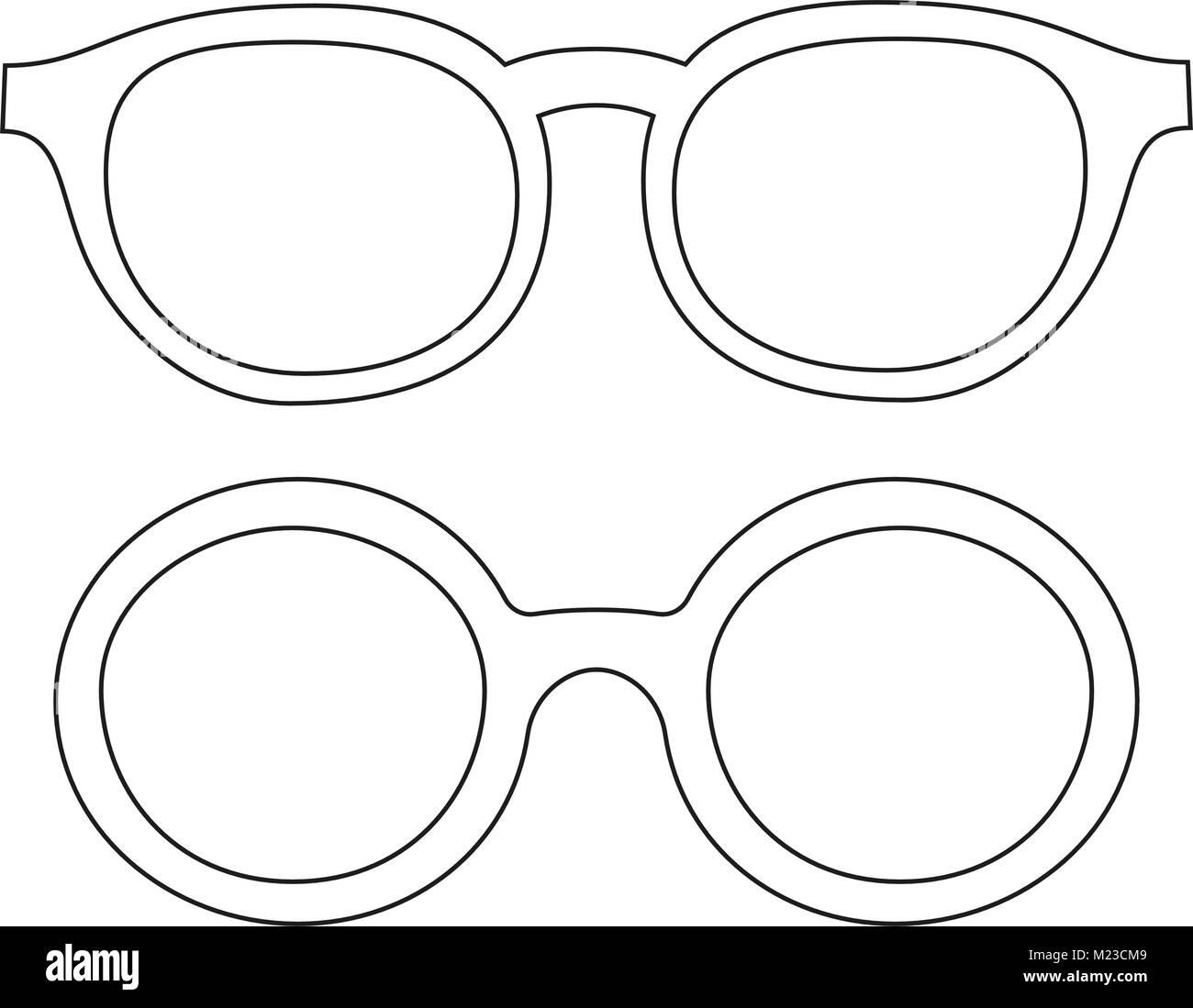 Línea De Iconos Arte Poster Hombre Padre Papá Día Gafas Anteojos