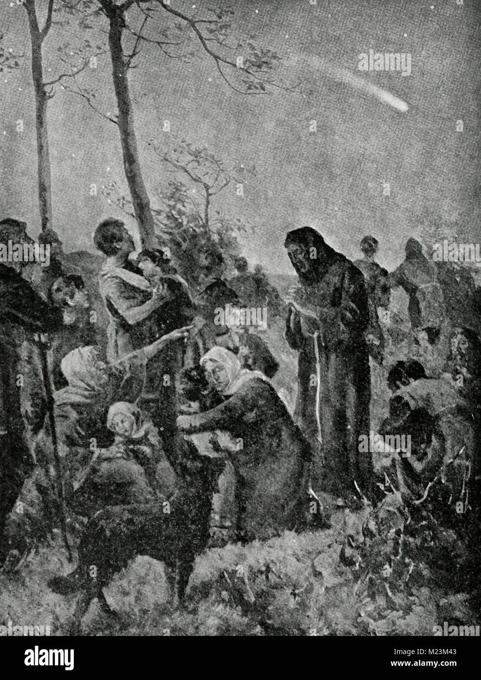 La Aparición del Cometa Halley, abril de 1066 Imagen De Stock